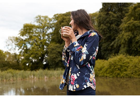 Joules Ladies Coast Print Waterproof Jacket 30th Anniversary Print Floral
