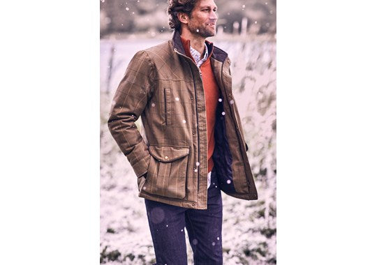 Joules Mens Fullerton Waterproof Tweed Technical Jacket in Multi Tweed