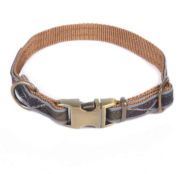 Barbour Pet Reflective Dog Collar Classic Tartan