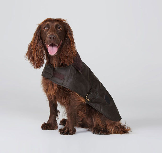 Barbour Pet Mat Wax Dog Coat Olive