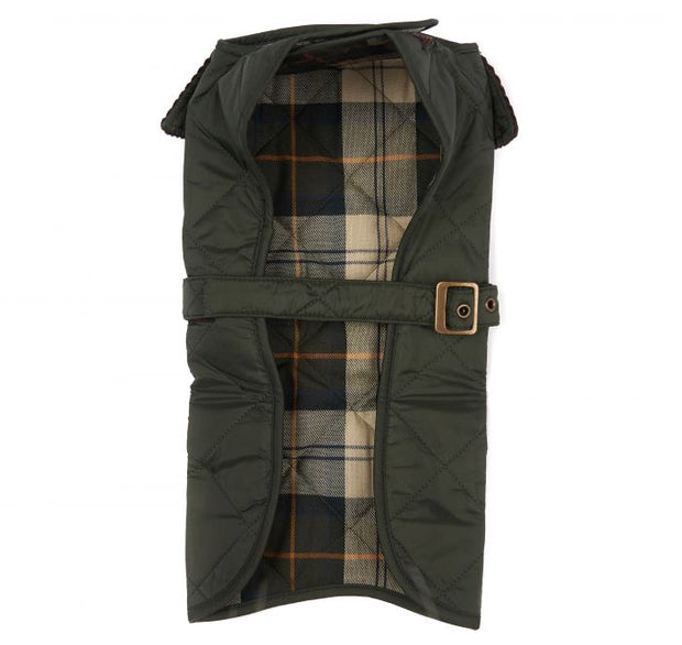 Barbour Pet Quilted Dog Coat Olive