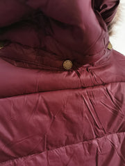 Barbour Ladies Caldbeck Quilt Bordeaux Jacket Coat with detachable hood