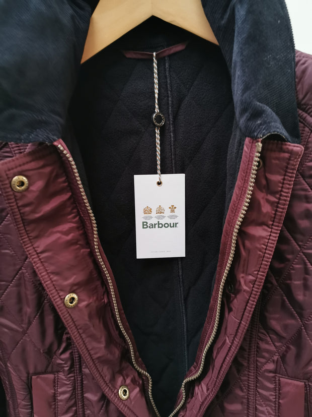 Barbour Ladies Beadnell Polar Quilt Jacket Aubergine