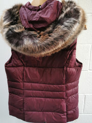 Barbour Ladies Ullswater Gilet Bordeaux with detachable hood