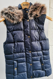 Barbour Ladies Ullswater Gilet Navy with detachable hood