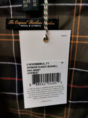 Barbour Ladies Classic Wax Cotton Beadnell Jacket Olive