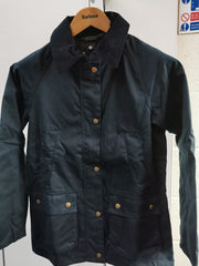 Barbour Ladies Acorn Waxed Cotton Jacket Navy