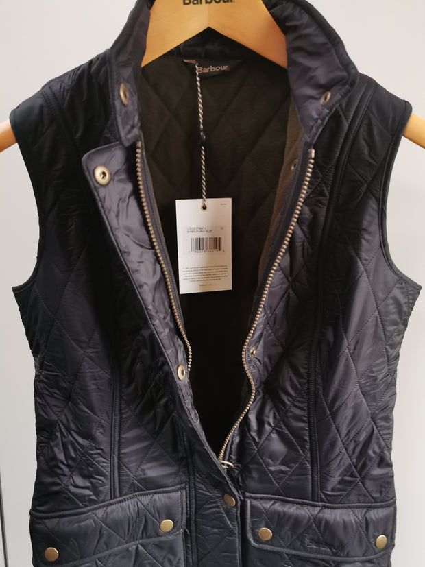 Barbour Ladies Diamond Quilt Wray Gilet Black