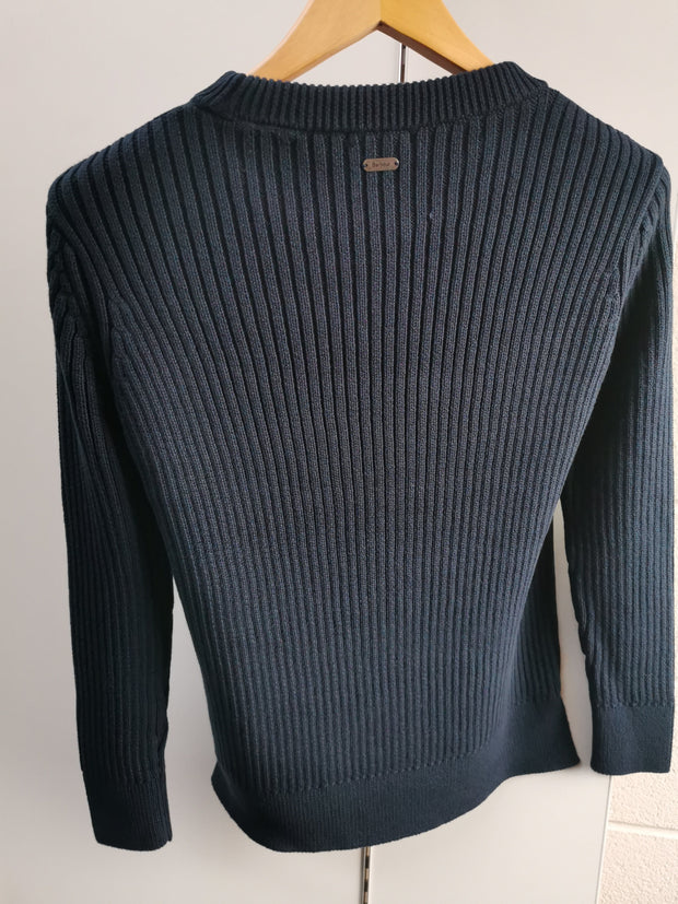 Barbour Ladies Broads Knitted Sweater  Navy Mallard