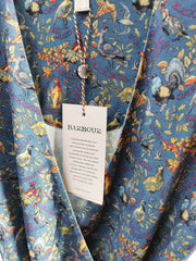 Barbour x Emma Bridgewater Ladies Eleanor Dress Stormy Blue Game Birds