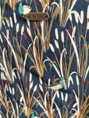 Barbour Ladies Exmoor Dress Duck & Bulrush Print in Navy