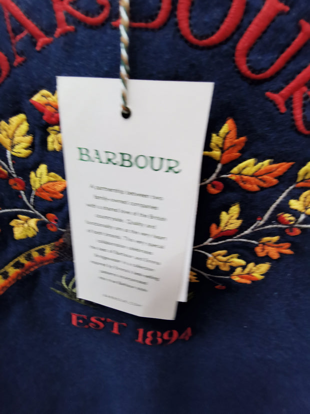 Barbour  x Emma Bridgewater Ladies Eleanor Over layer Denim Marl Grouse Top