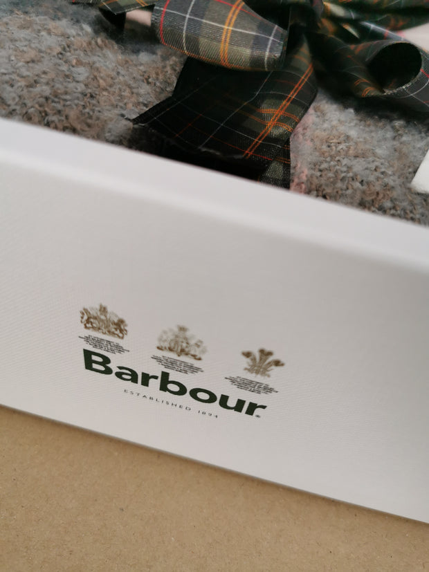 Barbour Ladies Blanket & Eye Mask Taupe/Pink