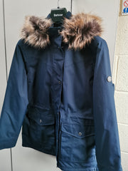 Barbour Ladies Abalone Waterproof Breathable Jacket Navy