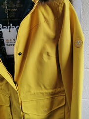 Barbour Ladies Abalone Waterproof Breathable Jacket Sulphur Yellow