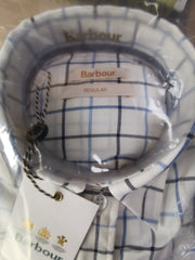 Barbour Ladies Triplebar Shirt Oxford Blue Check