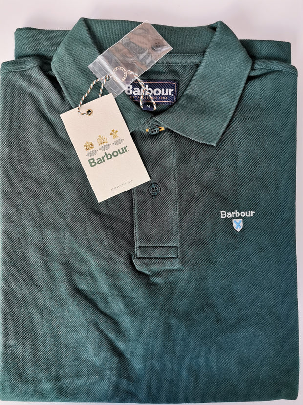 Barbour Mens Sports Polo Shirt Seaweed Green