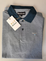 Barbour Mens Sports Polo Mix Shirt Deep Sea