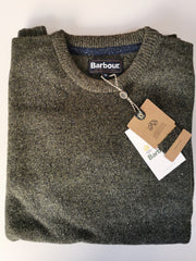 Barbour Mens Tisbury Crew Neck Sweater Dark Seaweed