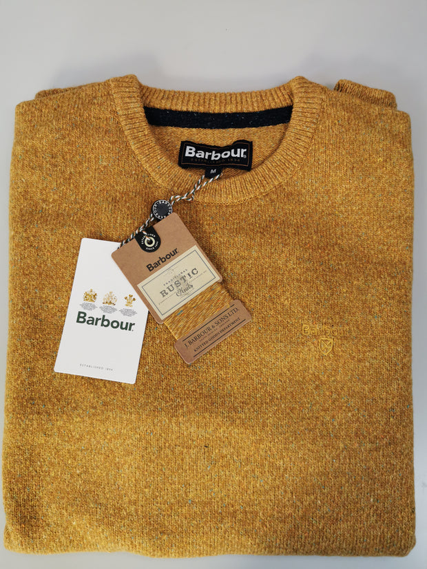 Barbour Mens Tisbury Crew Neck Sweater Copper