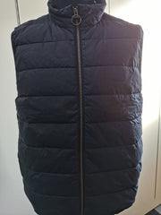 Barbour Mens Scrum Gilet Waxed Cotton Navy