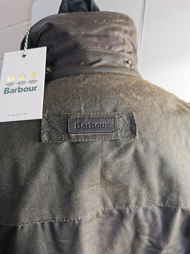 Barbour Mens Cartmel Waxed Cotton Olive Jacket