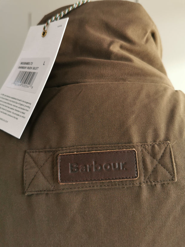 Barbour Mens Ruck Gilet Dark Olive
