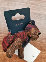 Joules Ladies Tweedle Tweed Novelty Keyring Dog