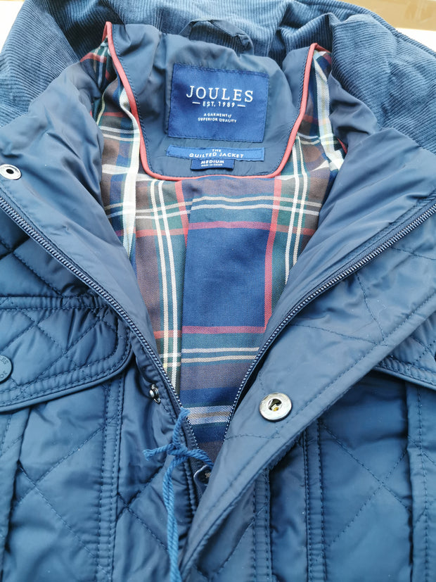 Joules Mens Layfield Waterproof Quilted Jacket Navy