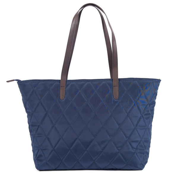 Barbour Ladies Witford Quilted Tote Handbag Navy