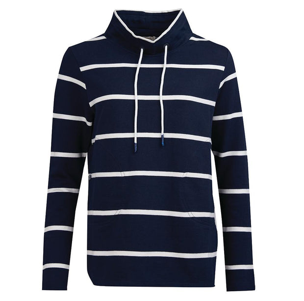 Barbour Ladies Coastal Over Layer Top Navy White Stripe