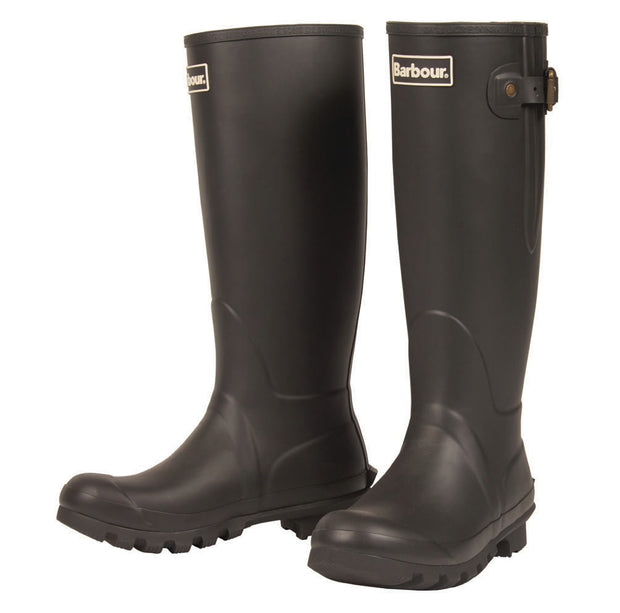 Barbour Ladies Amble Neoprene Lined Wellington Boots Black