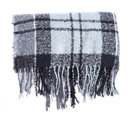 Barbour Ladies Boucle Scarf Grey/Juniper Tartan