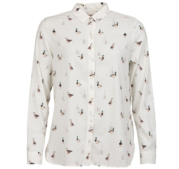 Barbour Ladies Brecon Shirt Duck & Bulrush Cloud Print