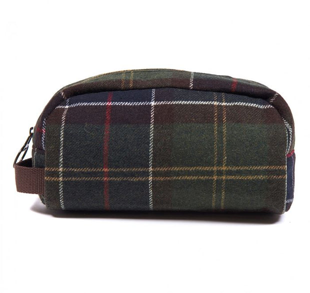 Barbour Tartan Wool Wash Bag Classic