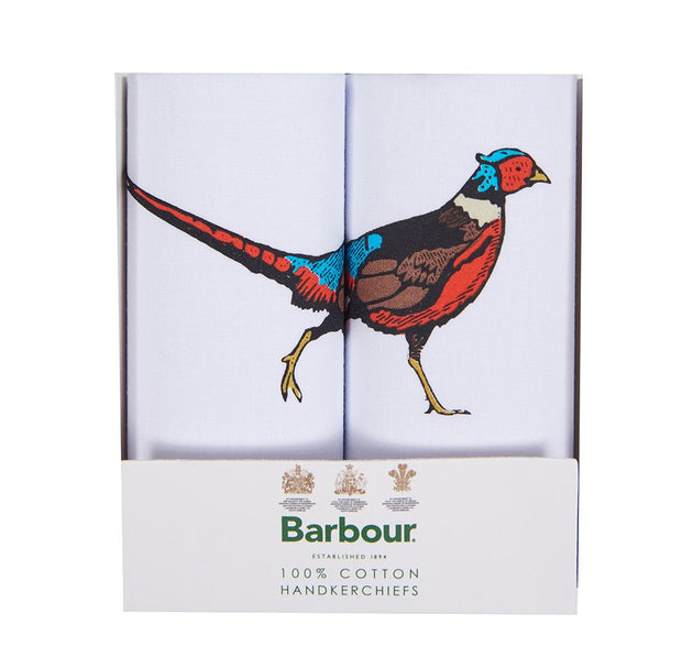 Barbour Mens Animal Hankies Pheasant Gift Box Set