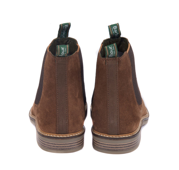 Barbour Mens Farsley Chelsea Boots Caramel Suede