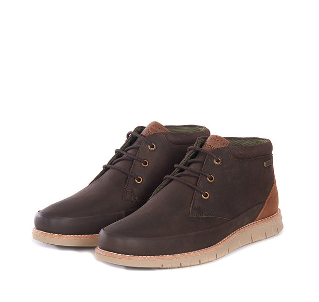 Barbour Mens Nelson Chukka Boots Brown