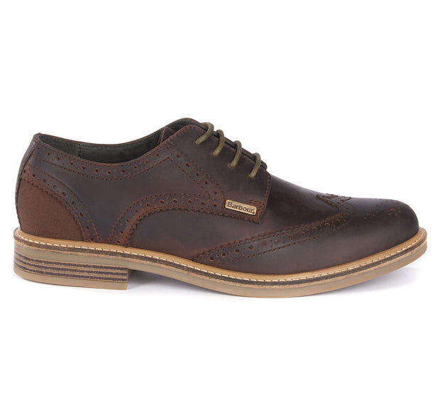 Barbour Mens Bamburgh Oxford Brogue Choco