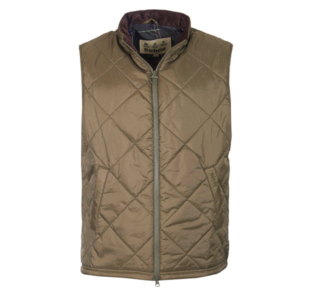 Barbour Mens Finn Country Quilt Gilet Olive