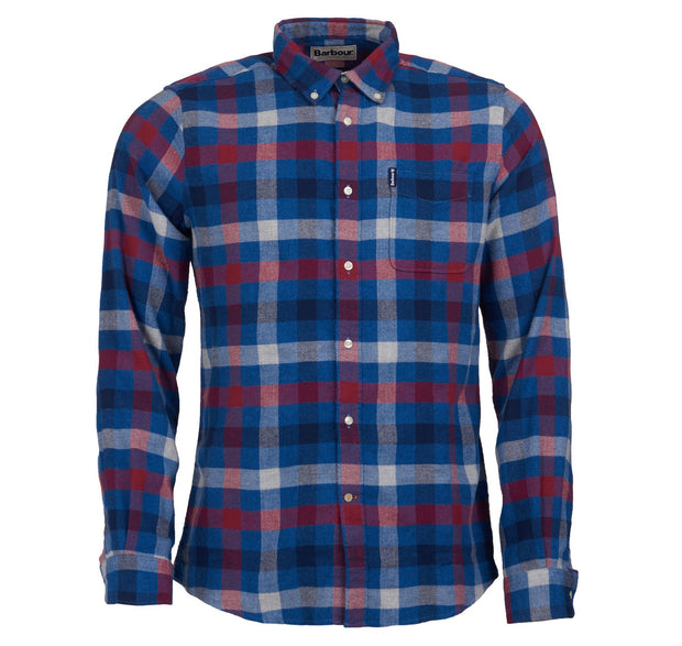 Barbour Mens Country Check Shirt 5 Tailored Fit  Red