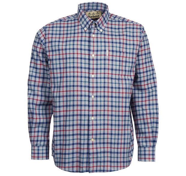 Barbour Mens Thermo Tech Coll Shirt Grey Marl