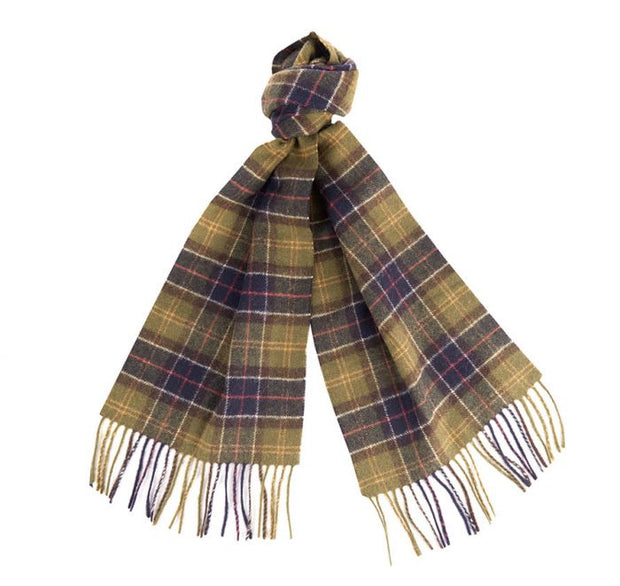 Barbour Mens Ladies Unisex Lambswool Scarf Classic Tartan