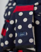 Joules Ladies Jacquelyn Jacquard Scarf French Navy Spot