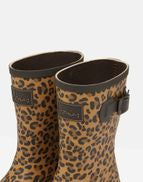 Ladies Molly Mid Height Printed Welly Tan Leopard Print
