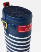 Joules x Rosewood Pet Dog Toy Rubber Welly Boot Navy Stripe