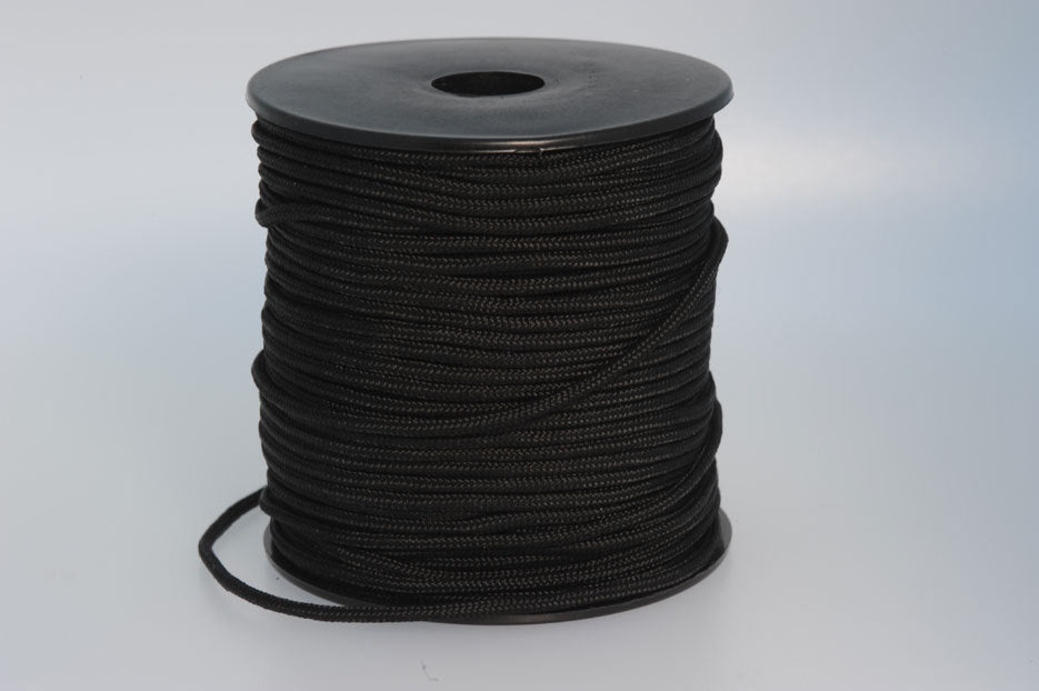 Polyesterband Svart 2mm x 50m