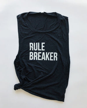"""Rule Breaker"" Muscle Tank - Saylor Design Co"