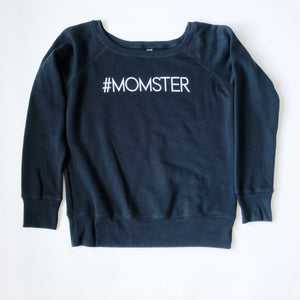 """Momster"" Scoop Neck Fleece Sweatshirt - Saylor Design Co"