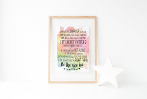 """Be The Nice Kid"" Print - Saylor Design Co"